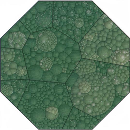 Voronoi tesselation treemap
